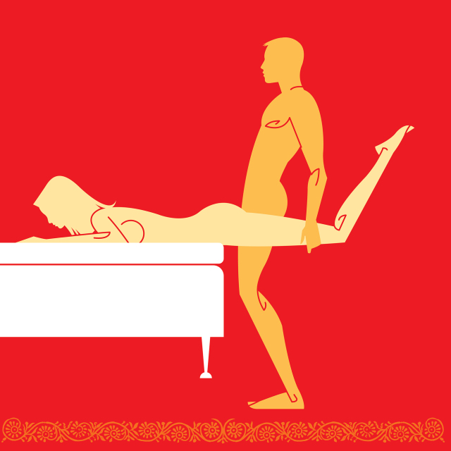 bed spread sex position