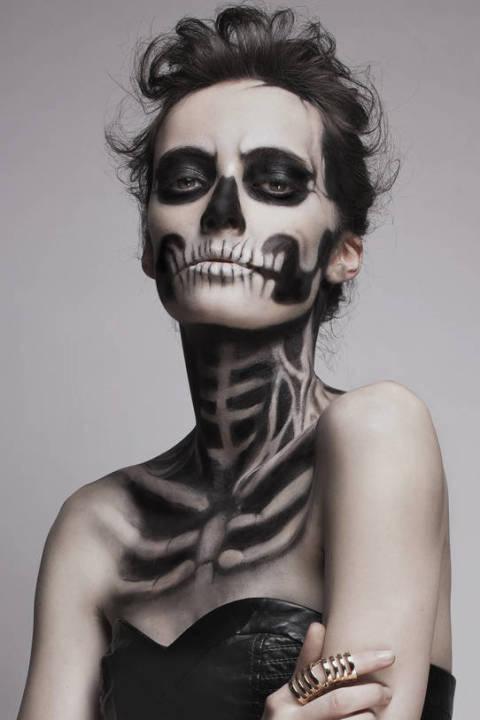 skeleton makeup halloween makeup - Scary Halloween Eye Makeup