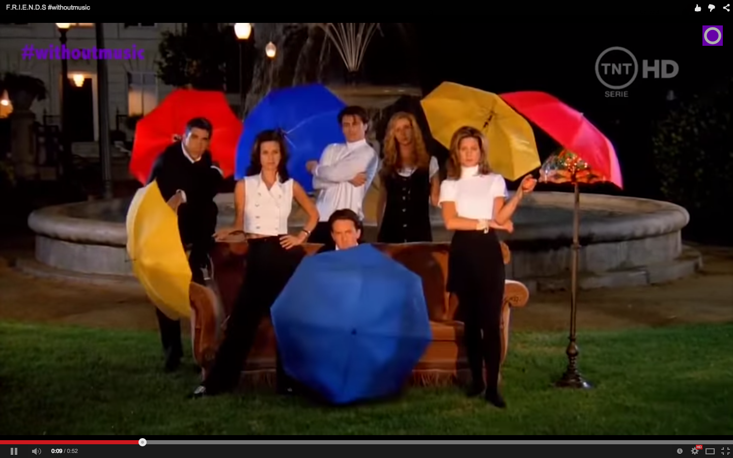 The Quot Friends Quot Opening Credits Without Music Are Really Weird