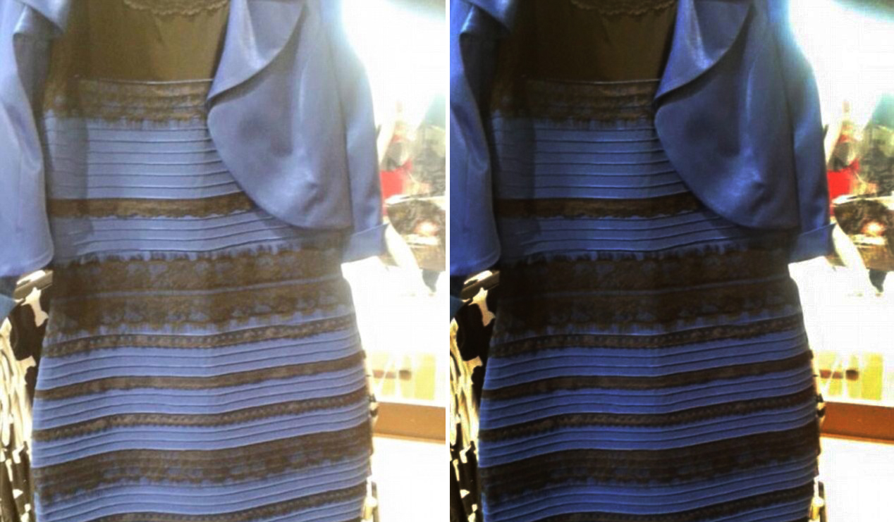 Платье сине чёрное или белое золотое
