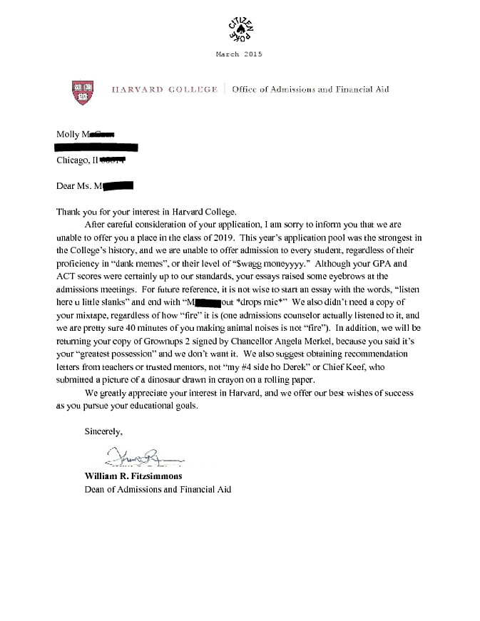 College Admission Essay For Harvard