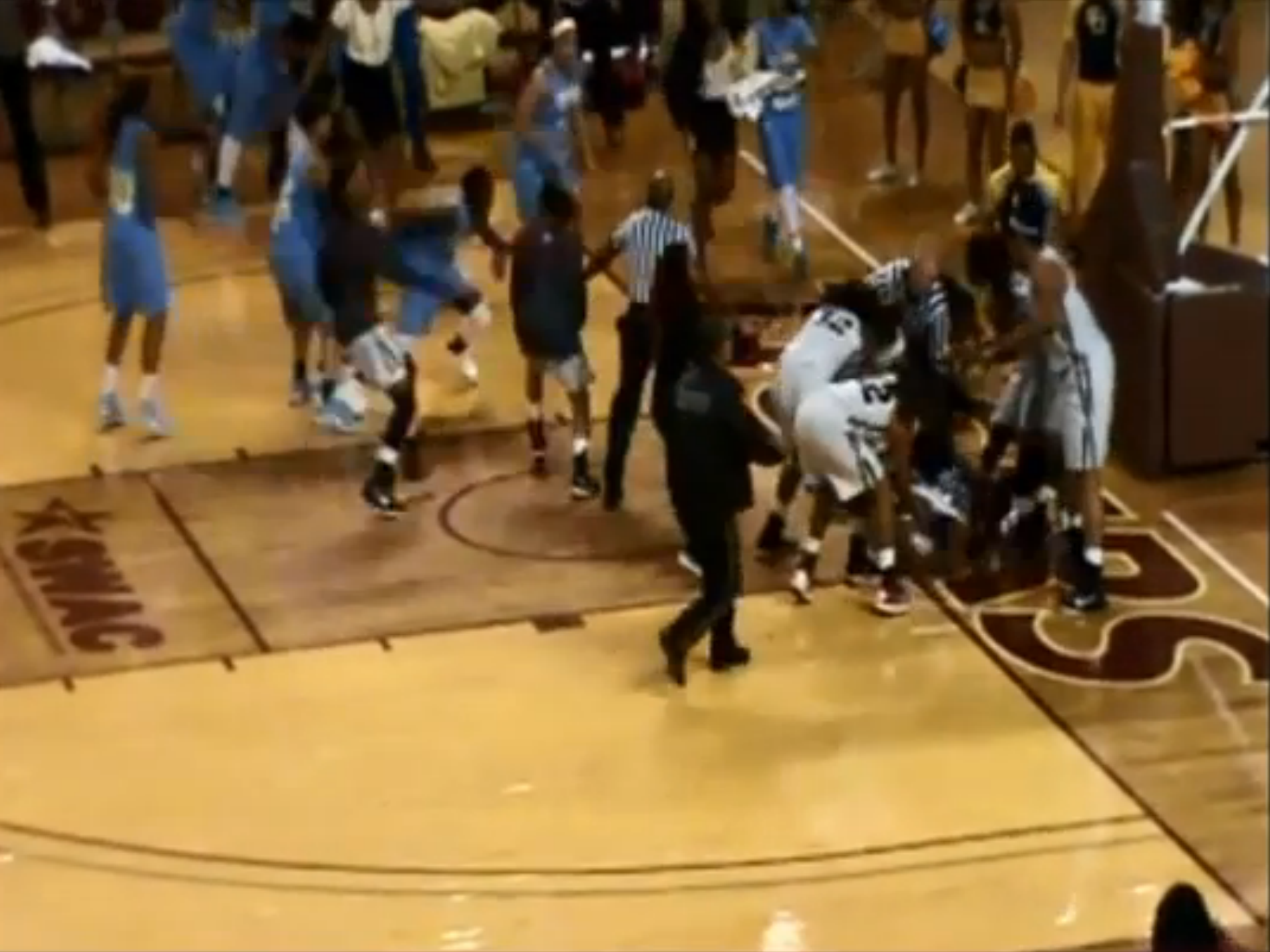 Women's College Basketball Game Erupts Into Brawl