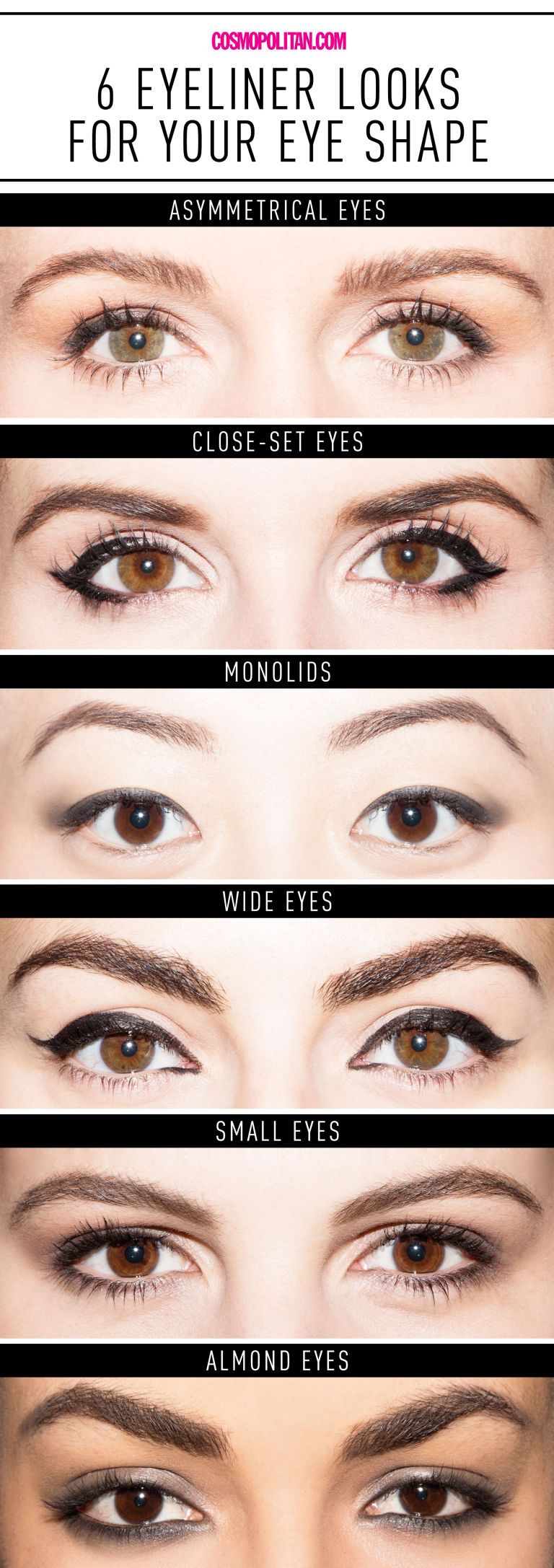 Makeup tips for your eye shape