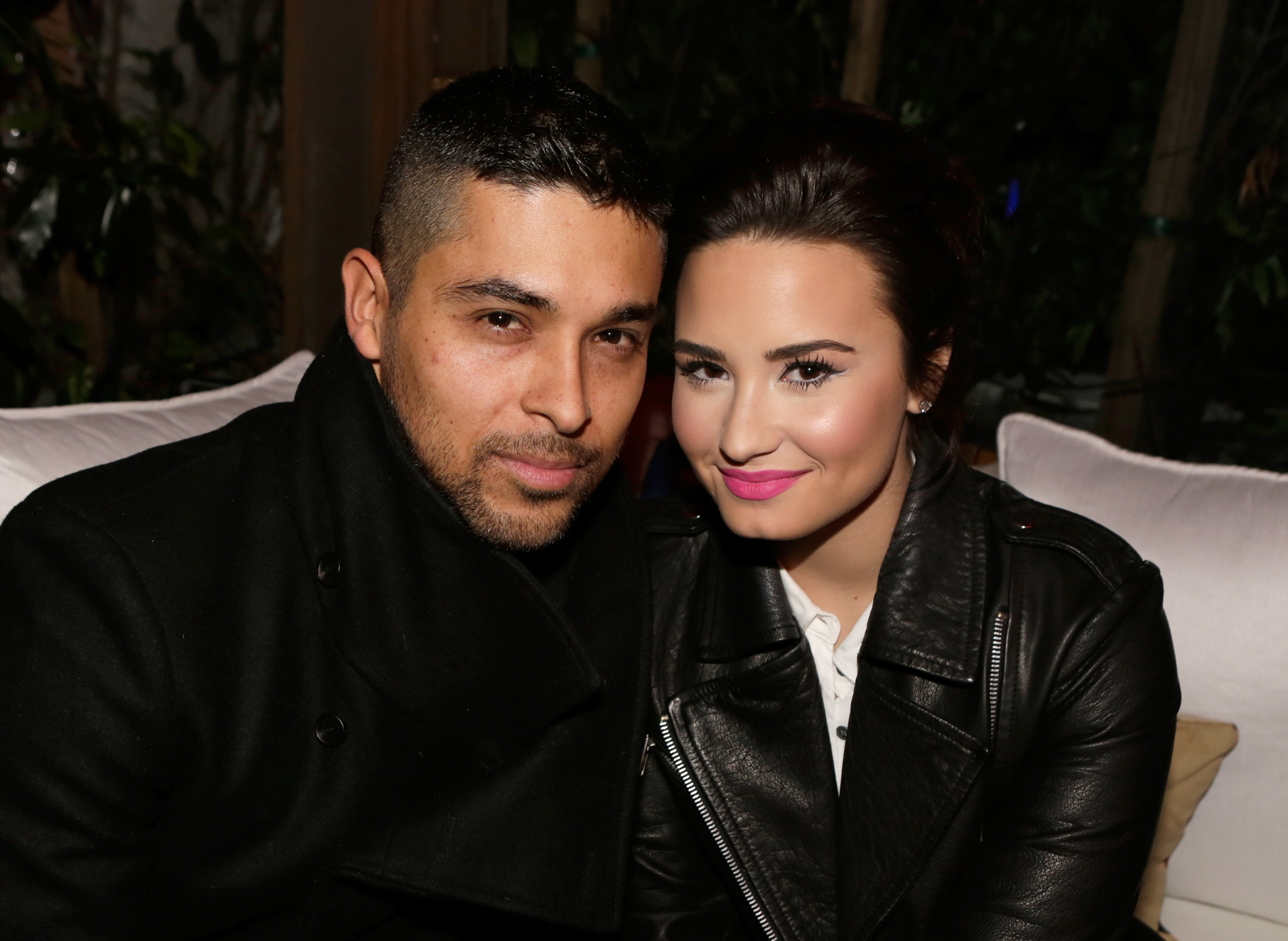 Demi Lovato with beautiful, cute, Boyfriend Wilmer Valderrama