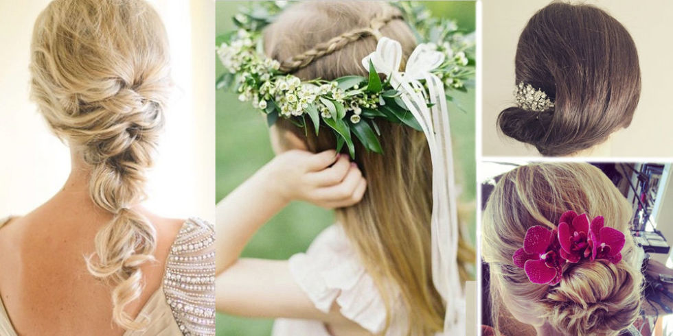 14 Wedding Hairstyle Ideas Modeled by Bridesmaids