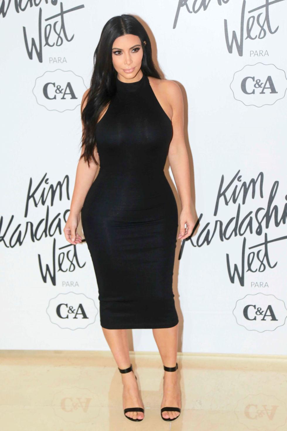 pics of kim kardashian dresses