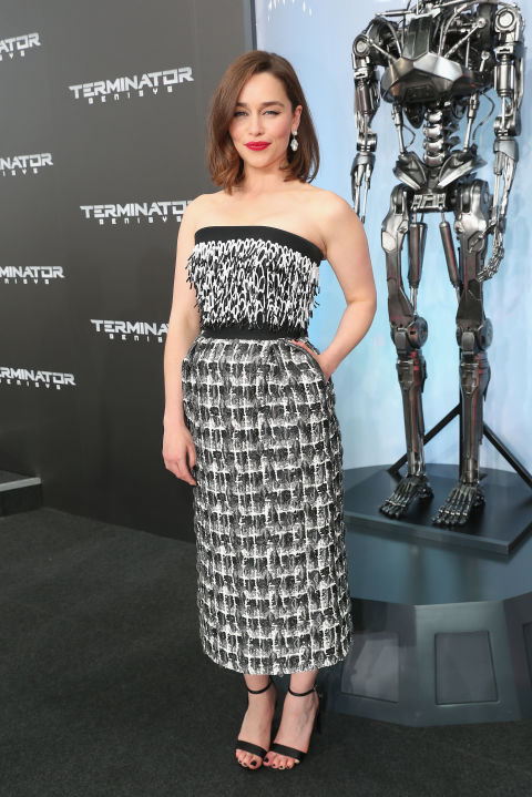 Emilia Clarke attends the European premiere of Terminator Genisys at the CineStar Sony Center in Berlin on June 21, 2015.