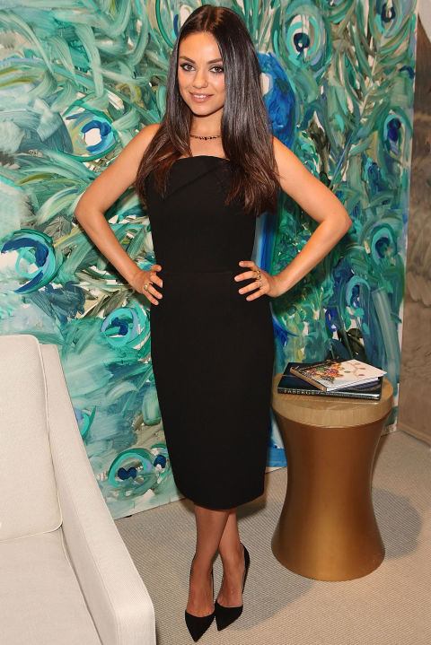 Mila Kunis attends a Faberge cocktail reception at Masterpiece London at Royal Hospital Chelsea in London on June 24, 2015.