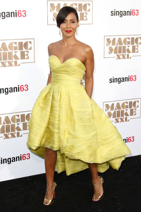 Jada Pinkett Smith arrives at the Los Angeles premiere of Magic Mike XXL at TCL Chinese Theatre IMAX on June 25, 2015, in Hollywood, California.
