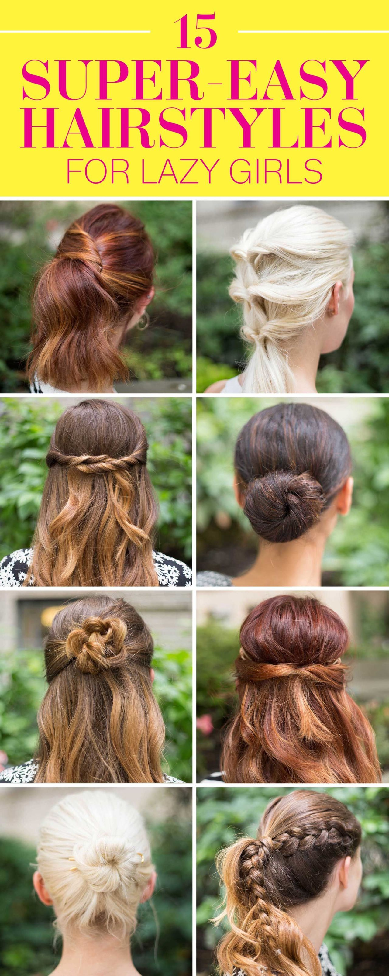 15 super easy hairstyles for lazy girls who can t even crazyforus