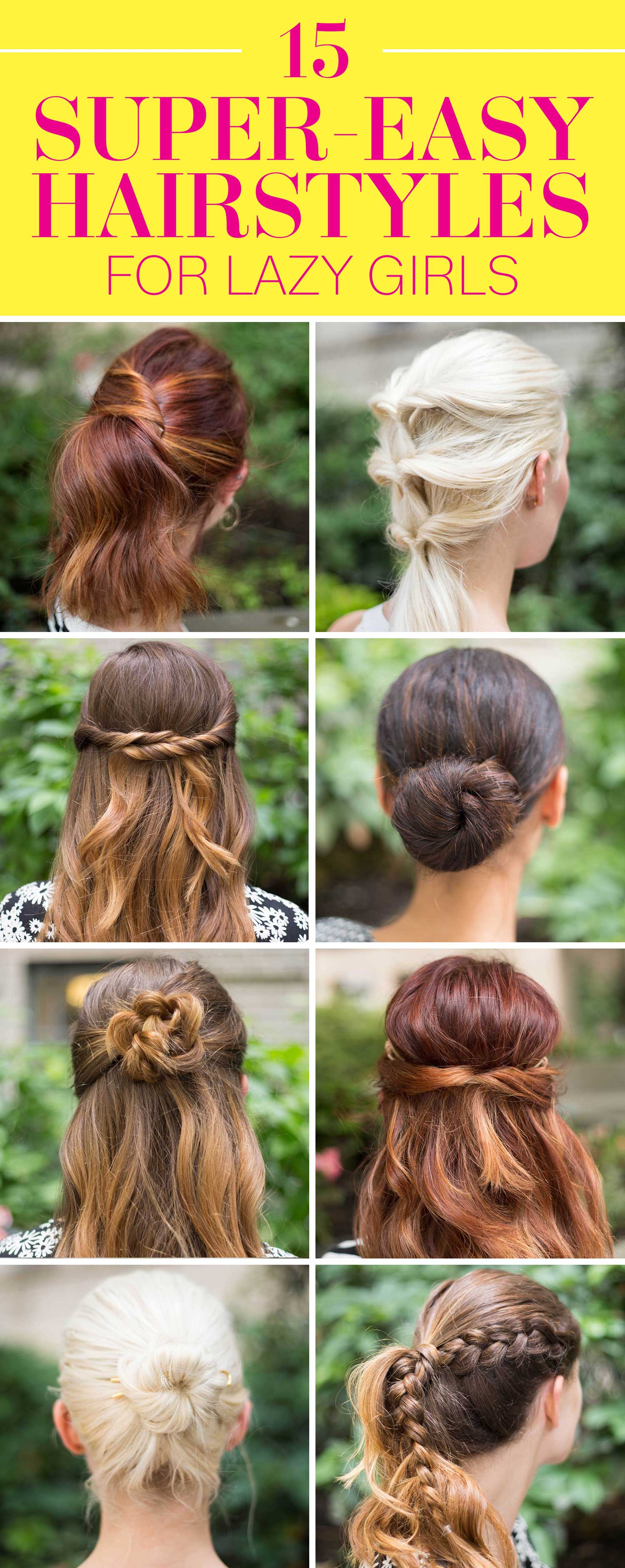 15 Super Easy Hairstyles For Girls In 2016