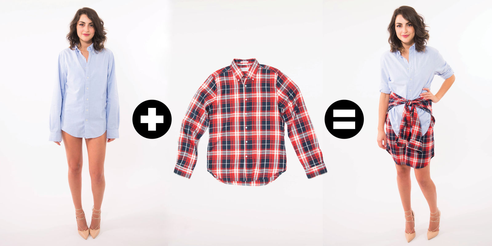 How To Create A Skirt With Men 39 S Shirts How To Wear A Boyfriend Shirt