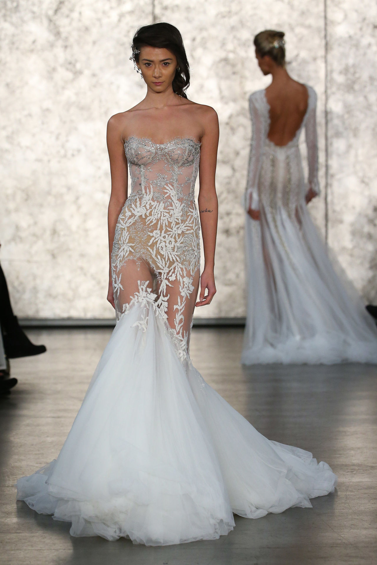 The naked dress trend takes hold at Bridal Fashion Week