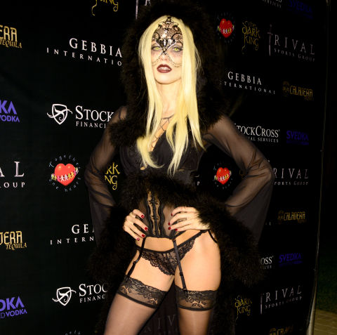 AnnaLynne McCord as a vampire at Carlton's Halloween party on October 24, 2015.