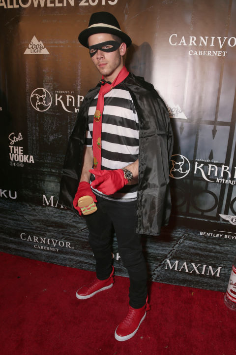 Nick Jonas attends the Maxim Halloween party on October 24, 2015.