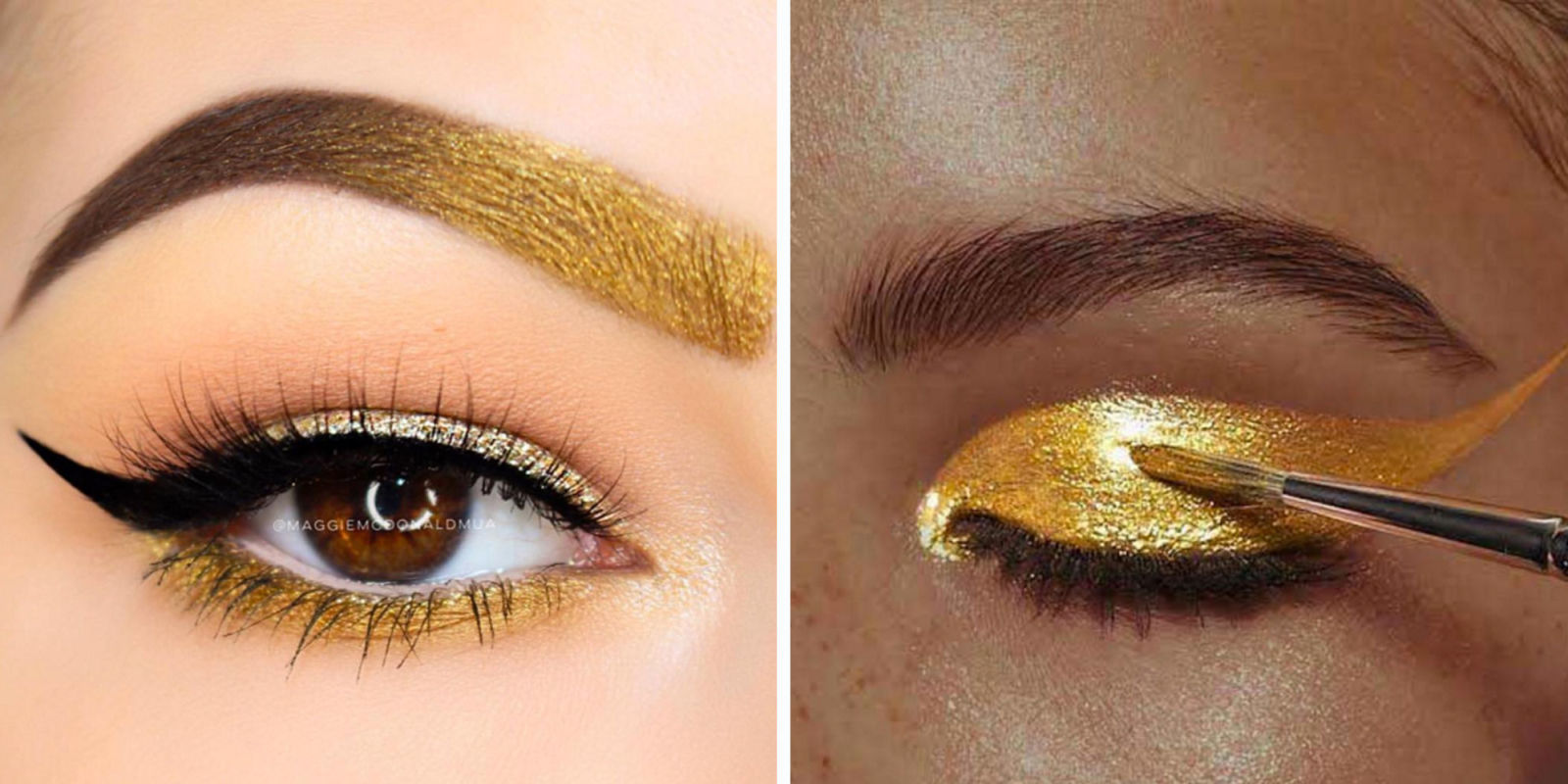 How To Wear Gold Eye Shadow