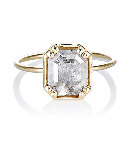 grace lee rustic diamond ring