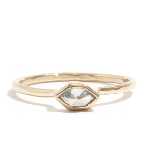 melissa joy manning clear white diamond ring