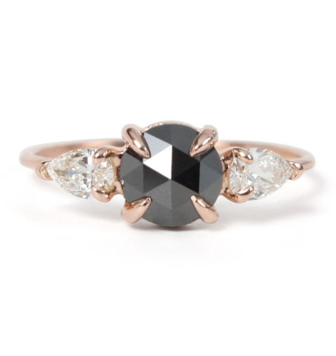 catbird jewelry mathilde the swan black diamond ring