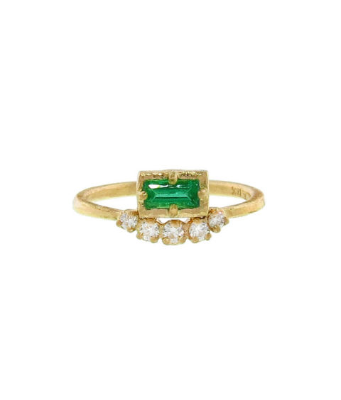 yasuko azuma emerald maguet ring with diamonds