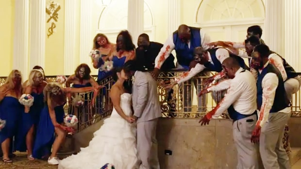NFL Player Had A Walking Dead-Themed Wedding (SEE PHOTOS) | OMOJUWA.COM