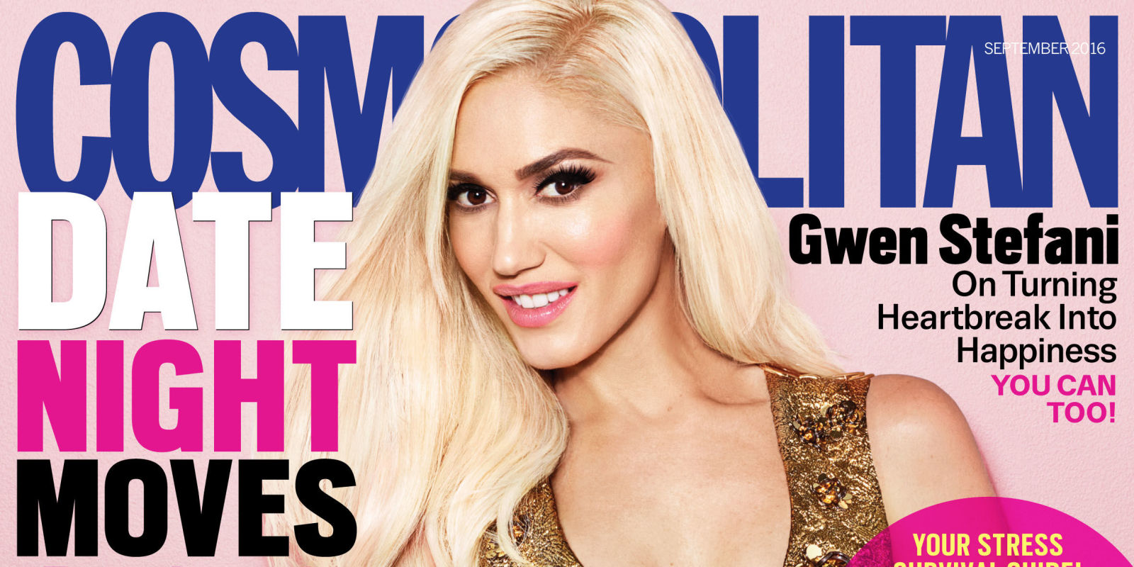 Gwen Stefani September 2016 Cosmo Cover - Gwen Stefani on Blake Shelton