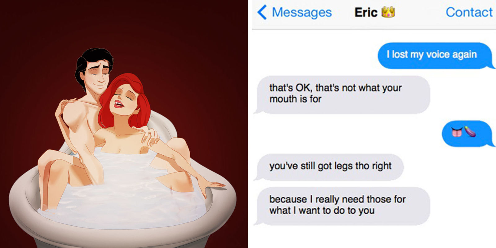 If Disney Characters Sexted Each Other Disney Princesses
