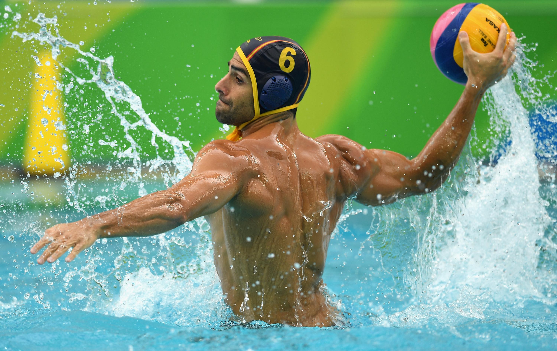 Water polo men bulge