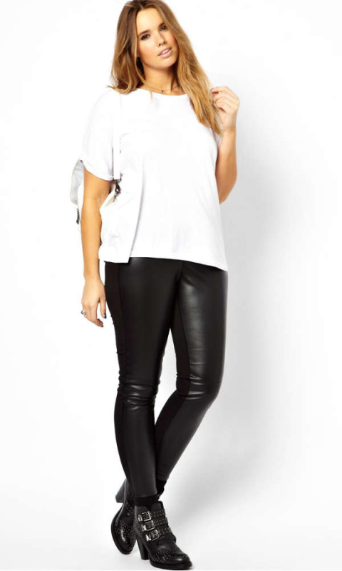 Fake leather pants plus size « Clothing for large ladies