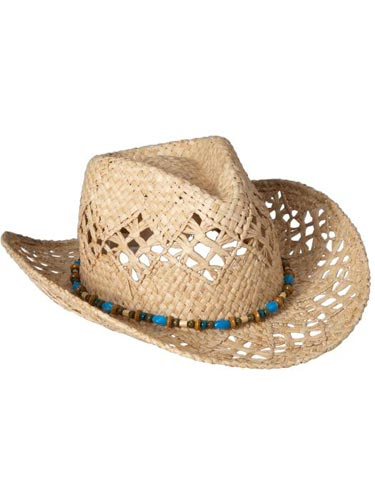 If cut-offs and t-shirts define your summer style, this is the hat for you. It's laid back and totally sexy. Women's Bead-Trimmed Straw Hat, $16.94, oldnavy.com