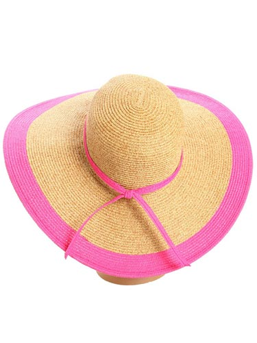 We've been going on and on about how hot pink is the color of the season. Here's another great way to sneak this bold hue into your wardrobe. Alejandra Sky Floppy Beach Hat, $69, zappos.com