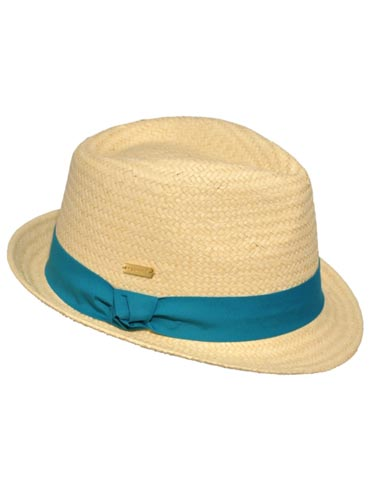 This tightly-woven straw topper looks great with everything from jeans to maxi-dresses—and we love the fun turquoise ribbon. Kangol Knot Trilbette, $46, kangolstore.com