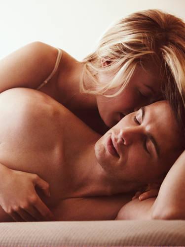 Girl gives guy massage