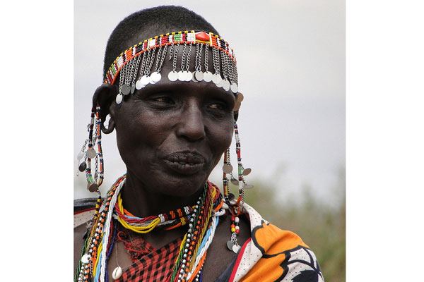 Stretched earlobes are a beauty ideal among the Masai of Kenya, where women piece and elongate their lobes using stones and pieces of elephant tusk.