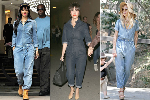 Celebrities Wearing Denim Jumpsuits - Denim Jumpsuits