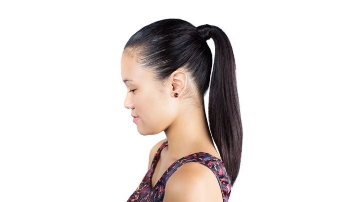 Slicked Back Ponytail Look