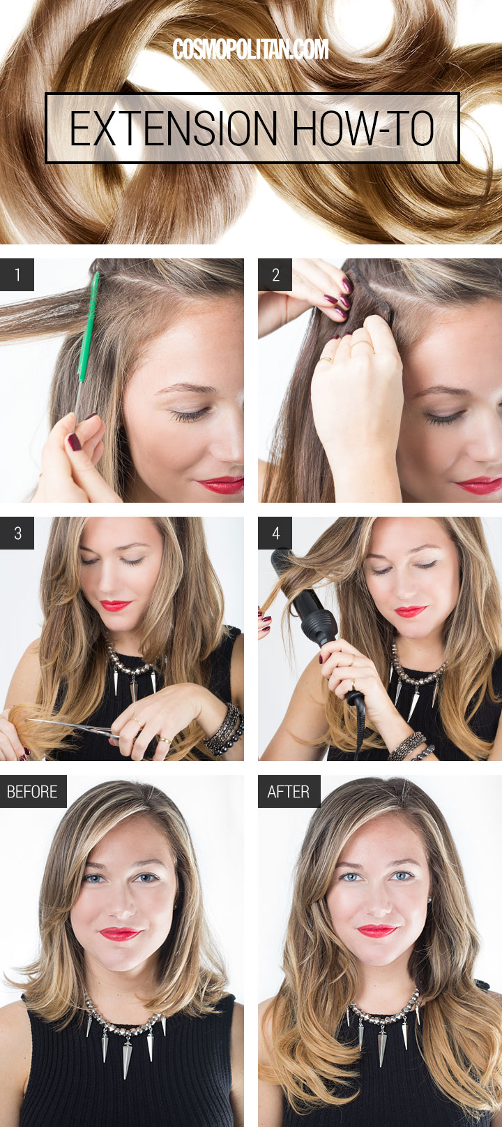 learn how to put hair extensions in