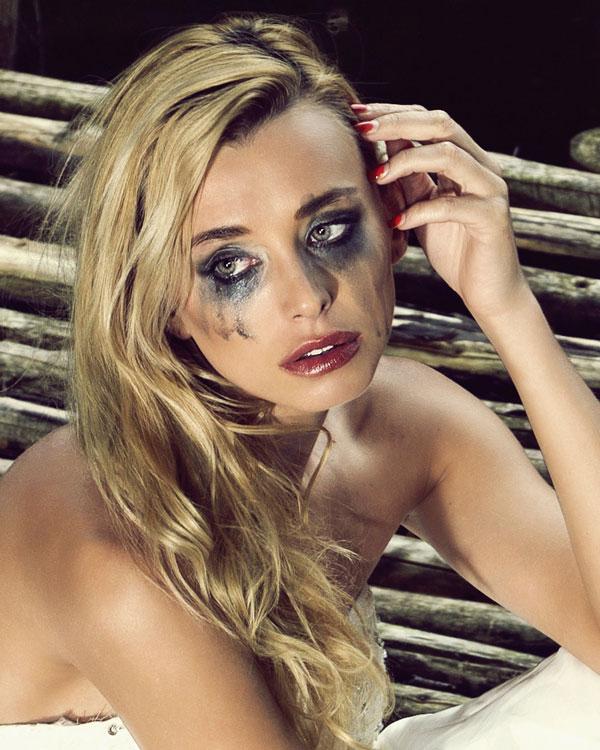 noiva maquiagem borrada